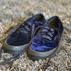 Crushed Velvet Vans
